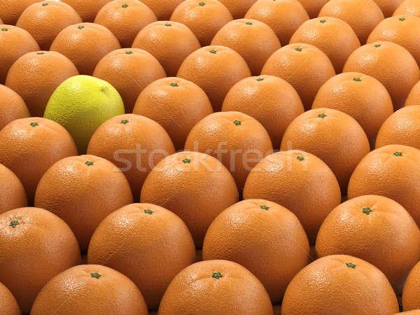 único limão muitos laranjas em pé fora Foto stock © arquiplay77