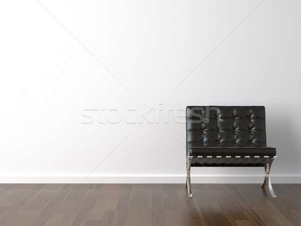 Negro silla blanco pared diseno interior Barcelona Foto stock © arquiplay77