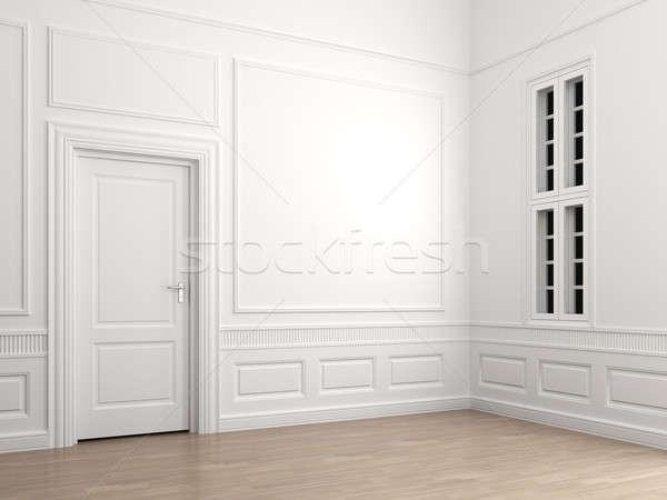 Сток-фото: интерьер · классический · комнату · углу · пусто · сцена