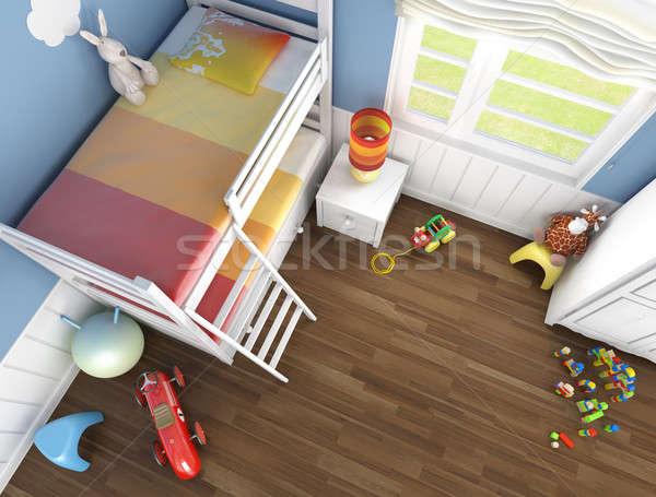 Stock photo: children's room top view