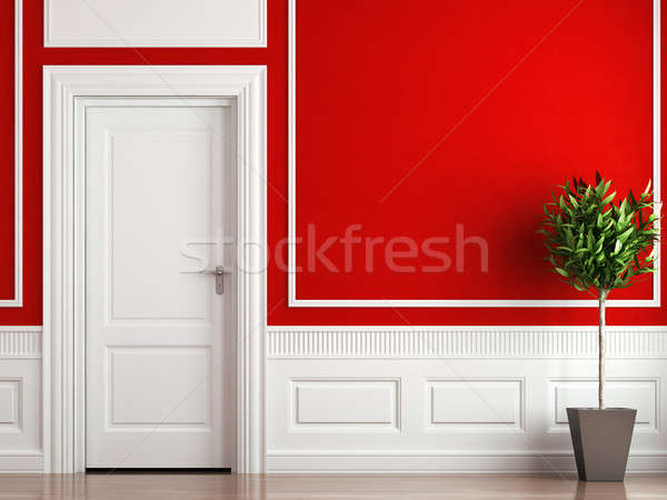 interior design classic red and white Stock photo © arquiplay77