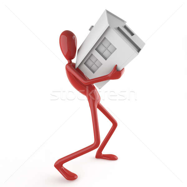 Dummy carrying house Stock photo © arquiplay77