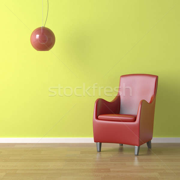 red chair on green Stock photo © arquiplay77