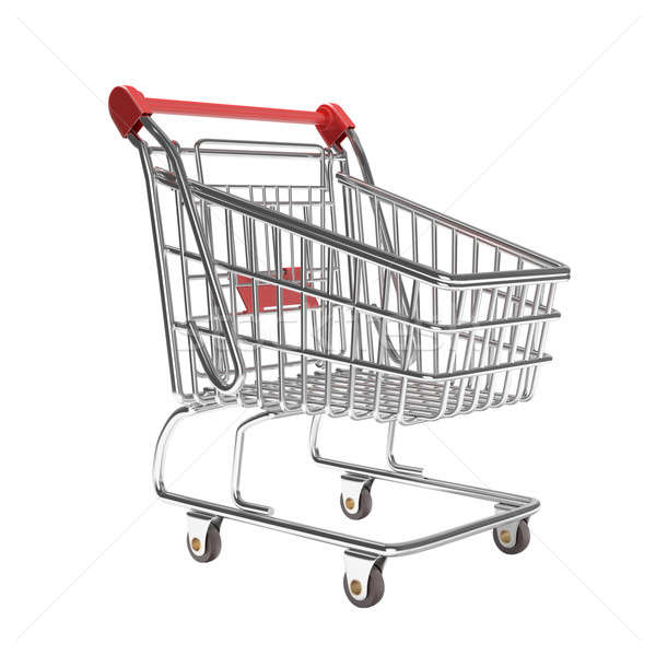 isolated empty shopping cart Stock photo © arquiplay77