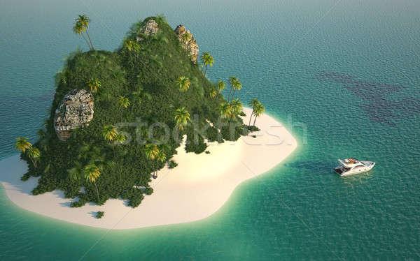 ストックフォト: 楽園 · 島 · 砂漠 · ターコイズ · 水