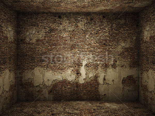 grungy interior brick room Stock photo © arquiplay77