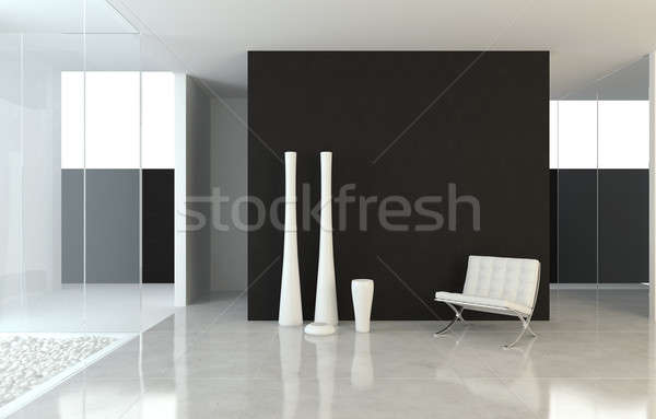 interior design modern B&W Stock photo © arquiplay77