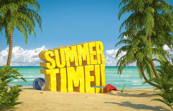 summer time tropical beach Stock photo © arquiplay77