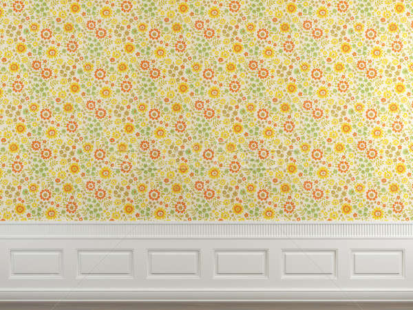 flowery wallpaper wall  Stock photo © arquiplay77