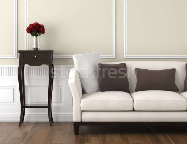 beige and white classic interior Stock photo © arquiplay77