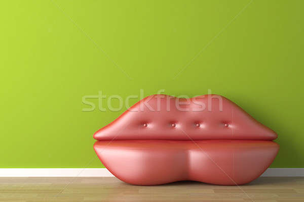 interior design lips shaped couch Stock photo © arquiplay77