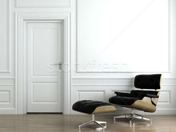 leather armchair on white interior wall Stock photo © arquiplay77