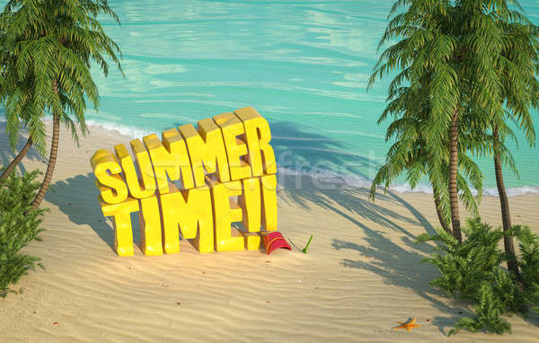 summer time tropical beach top view Stock photo © arquiplay77