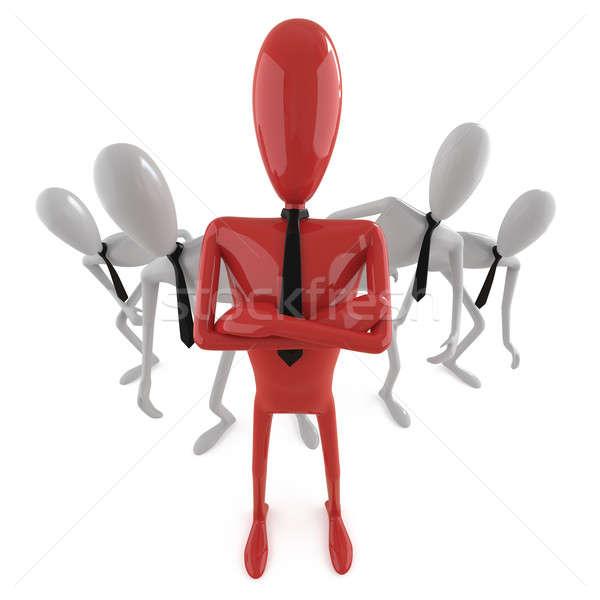 リーダーシップ グループ 後ろ リーダー 画像 ストックフォト © arquiplay77