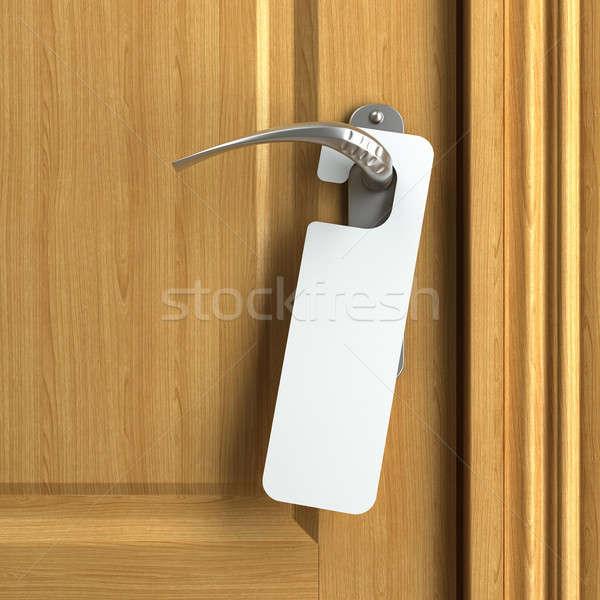 Fehér kártya copy space ajtóküszöb akasztás konzerv Stock fotó © arquiplay77