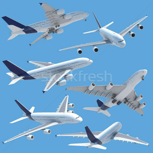airplane collection set isolated Stock photo © arquiplay77