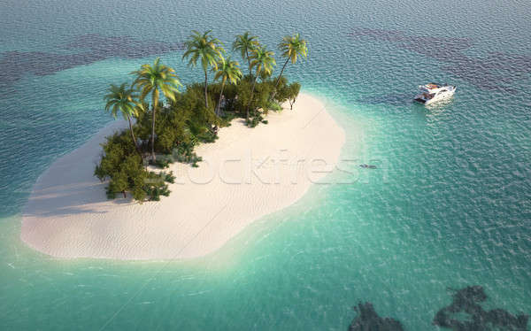 aerial view of paradise island Stock photo © arquiplay77