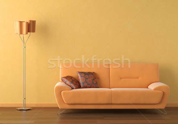 orange interior design scene Stock photo © arquiplay77