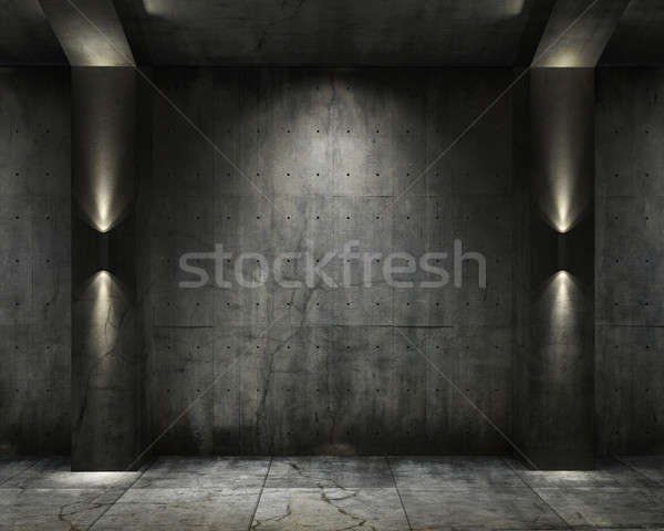 Grunge background concret vault Stock photo © arquiplay77