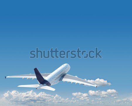aiplane with copy space in the sky Stock photo © arquiplay77