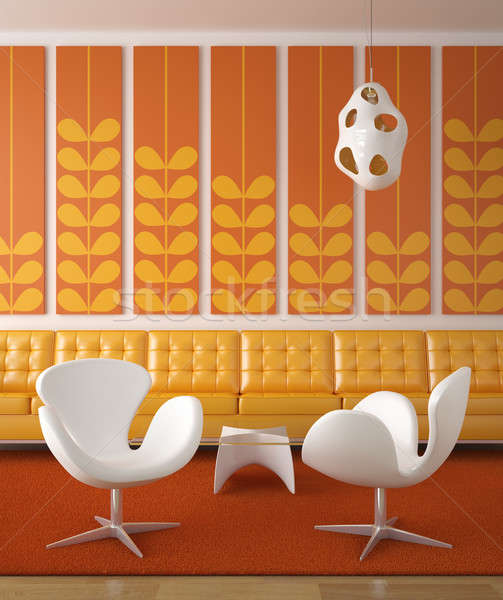 retro interior design orange Stock photo © arquiplay77