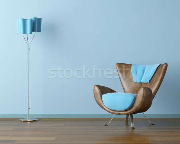 blue interior with couch and lamp Stock photo © arquiplay77