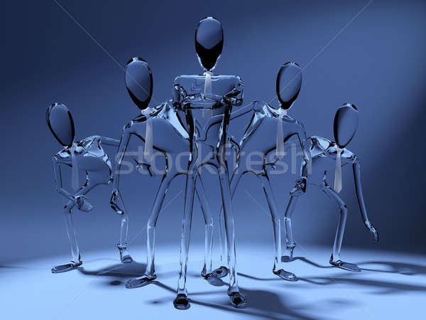 concept of leadership in cristal Stock photo © arquiplay77