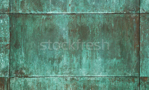 Verde cobre placa textura pared resumen Foto stock © arquiplay77