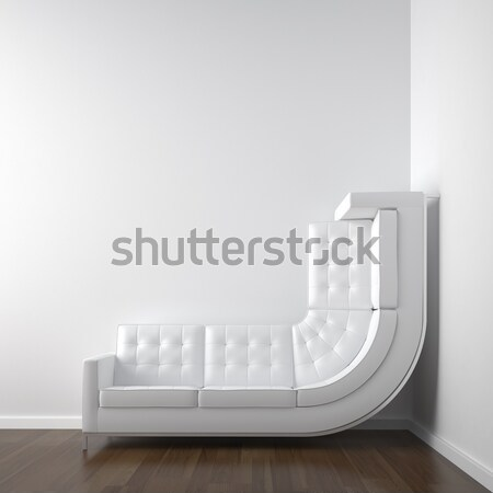 yellow couch bended to climb up wall Stock photo © arquiplay77