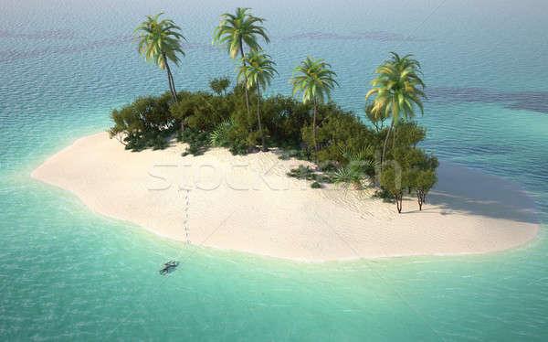 Photo stock: Désert · île · Caraïbes · turquoise · eau
