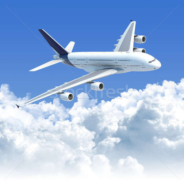 airplane flying over the clouds Stock photo © arquiplay77