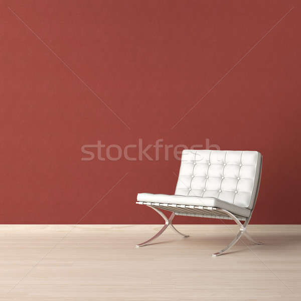 White chair on red wall Stock photo © arquiplay77