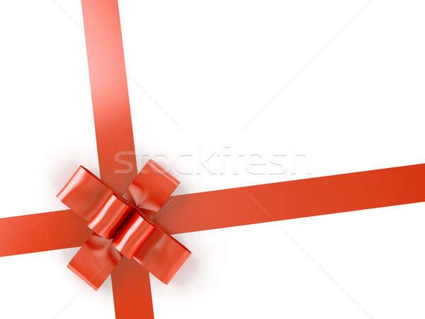 red ribbon and bow isolated on white Stock photo © arquiplay77