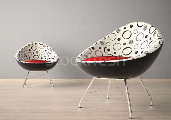 Two chairs on a grey wall Stock photo © arquiplay77