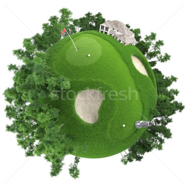 ストックフォト: ミニチュア · ゴルフ · 惑星 · いい · 草 · クラブ
