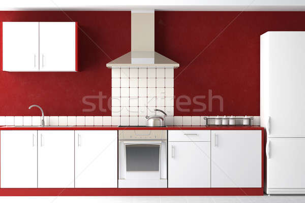 interior design of modern kitchen Stock photo © arquiplay77