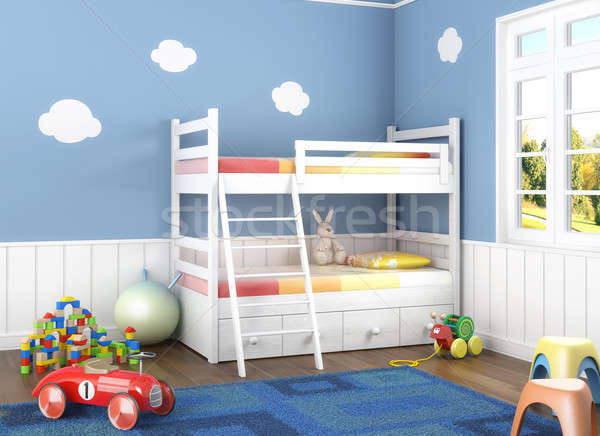 blue children´s room with toys Stock photo © arquiplay77