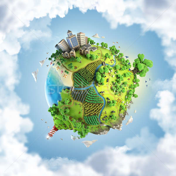 globe concept of idyllic green world Stock photo © arquiplay77