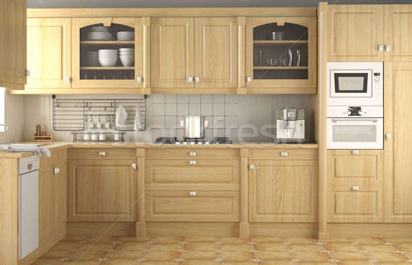 interior design classic kitchen Stock photo © arquiplay77