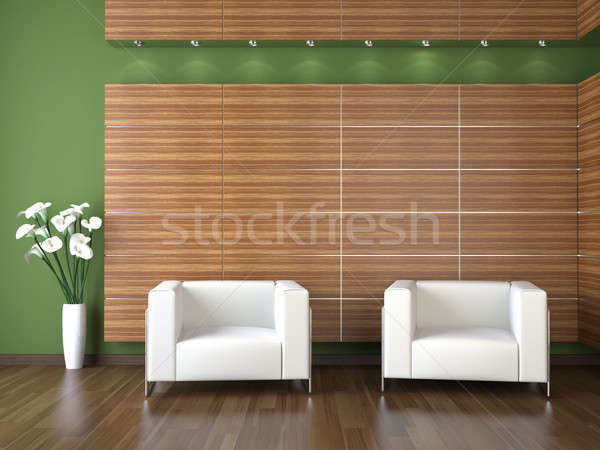 interior design of modern waiting room Stock photo © arquiplay77