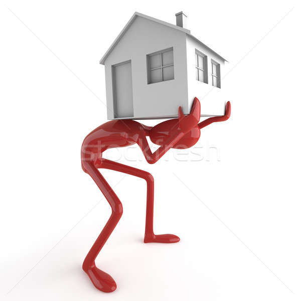 dummy carrying house on his back Stock photo © arquiplay77
