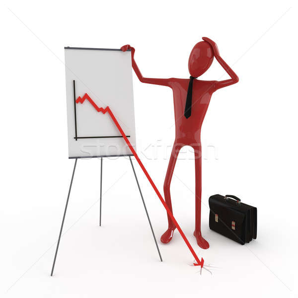 dummy and financial chart Stock photo © arquiplay77