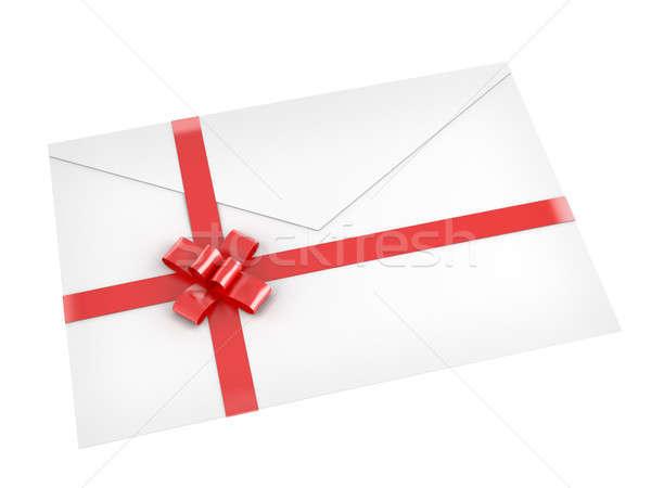 письме изолированный белый лук Сток-фото © arquiplay77