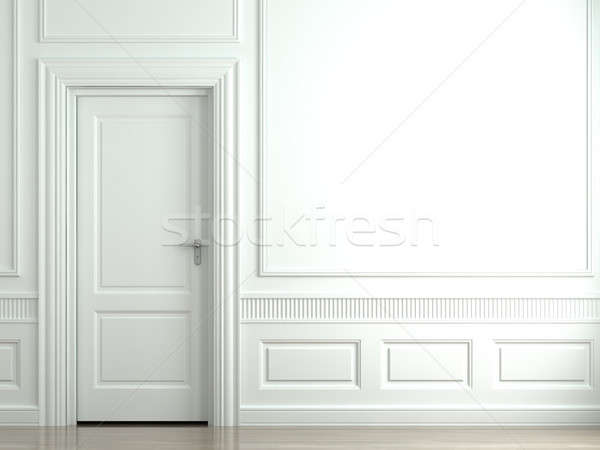 white classic wall with door Stock photo © arquiplay77