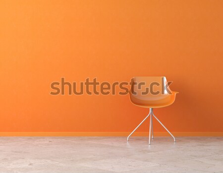 orange wall interior with copy space Stock photo © arquiplay77