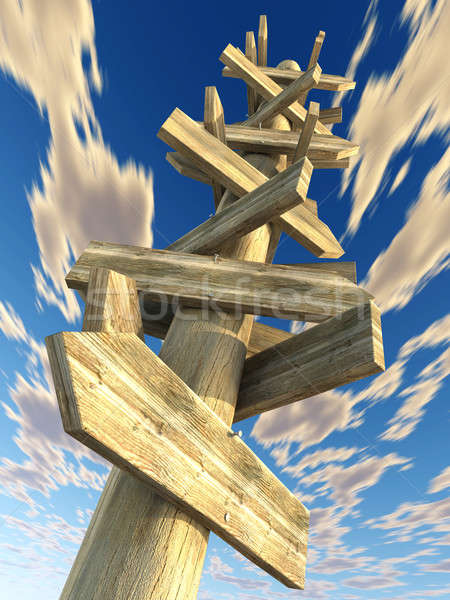 chaotic signal post Stock photo © arquiplay77
