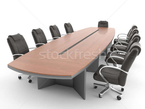Meeting room table isolated on white Stock photo © arquiplay77