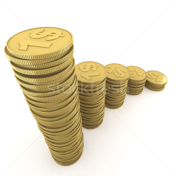 ascending piles of coins Stock photo © arquiplay77