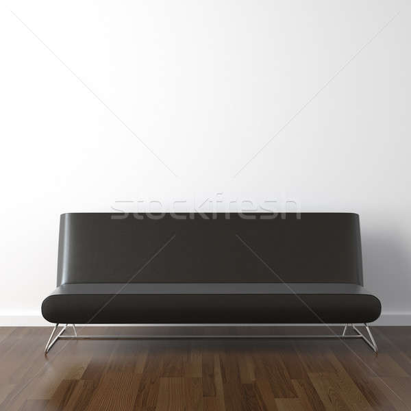 black leather couch on white Stock photo © arquiplay77