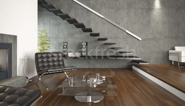 interior design of modern living room Stock photo © arquiplay77